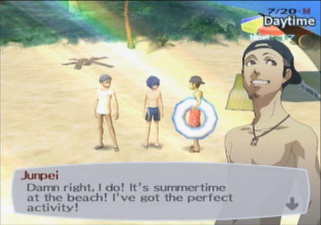 Para honrar seu estilo anime, episódio filler na praia (Foto: Reprodução)