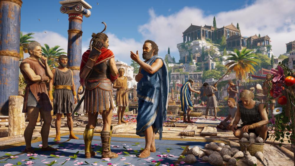 Sócrates durante uma de suas interações. Fonte: Gamebyte